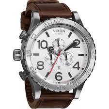men s nixon the 51 30 chrono leather chronograph watch a124 1113 mens nixon the 51 30 chrono leather chronograph watch a124 1113