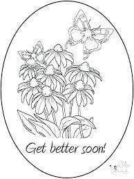 Get Well Soon Cards Printables Get Well Soon Card Coloring Pages Preview Free Printable Birthday