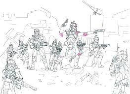 Clone Trooper Coloring Page Star Wars Coloring Pages To Print Clone