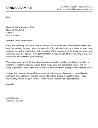 Cover Letters For Administrative Assistant Positions