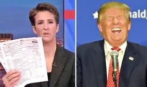 Image result for rachel maddow trump tax bust