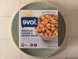 evol breakfast sausage uncured bacon bowl