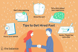 Tips For Job Seekers 15 Quick Tips That Will Help You Get Hired Fast