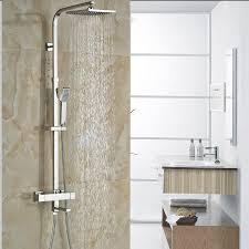 description dual handles thermostatic mixer valve for shower faucet set