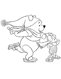 disney_pooh_bear_and_piglet_ice_skating_coloring_page disney pooh bear and piglet ice skating coloring page h & m on disney on ice coloring pages
