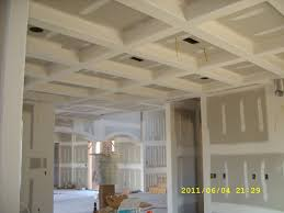 coffered ceilings using bullnose corner bead drywall