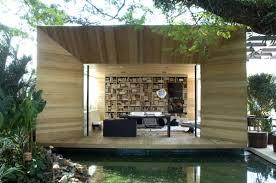 outdoor indoor library office area Source. Interior Design With Outdoor  Bathroom