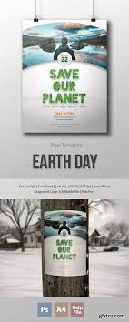 Earth Day Flyer Poster Template Gfxstudy All Graphic