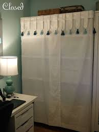 Easy Covered Shelf :: Cover a plastic shelving unit with two large table  cloths, for instant hidden storage.   Completed Projects :: Hello Kirsti ...