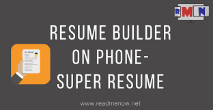 Super Resume Super Resume Builder Make Resume On Mobile YouTube 47