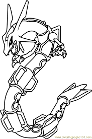 Small Picture Rayquaza Pokemon Coloring Page Free Pokmon Coloring Pages