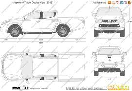 The-Blueprints.com - Vector Drawing - Mitsubishi L200 Double Cab