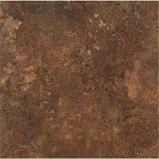 armstrong flooring alterna 14 piece 16 in x 16 in groutable aztec terracotta glue adhesive vinyl tile