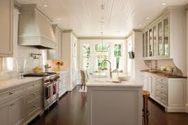 Renovated Kitchen Black Cabinetry With Panel Appliances Also New Design Of Kitchens