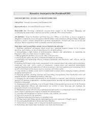 Executive Assistant Job Description For Resume Job Resume For Administrative Assistant Bar Server Description Aldi 23