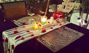 sky garden lounge resto candle light dinner decoration