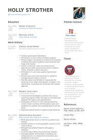 Social Work Resume Samples Visualcv Database Examples Downloadable