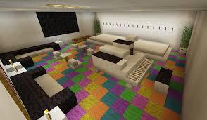 Minecraft Interior Design Living Room Minecraft Music Room Stage Karaoke Piano Rainbow Carpet Creations