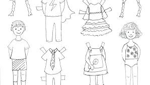 Paper Doll Coloring Pages For Print Jokingartcom Paper Doll