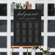 7 Sizes Editable Wedding Seating Chart Template Pdf