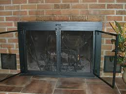 fireplace screens with doors image