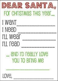 Christmas Wish List Santa Letters And Gift Tags The Kiddos