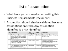Business Requirement Example Business Requirements Documents