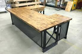 modern rustic office. U Shape Executive Carruca Office Desk Industrial Furniture Modern Commercial Rustic O