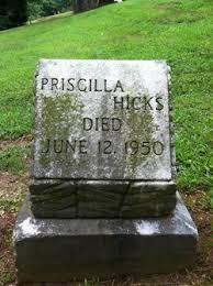 Priscilla Hicks (Unknown-1950) - Find A Grave Memorial