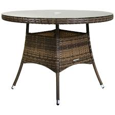 glwftb04br charles bentley medium round rattan table brown