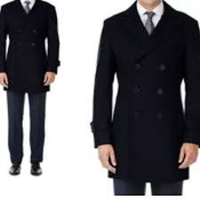 Braveman Mens Double Breasted Wool Blend Coat Xl Nwt
