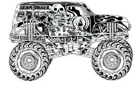 Monster Truck Color Pages Outstanding Monster Trucks Coloring Pages