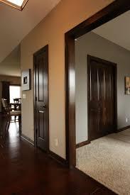 Interior Doors dark stained poplar doors and mouldings Bayer