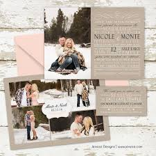 best 20 photo wedding invitations ideas on pinterest photo Wedding Invitation Photography Ideas custom photo wedding invitations blush pink, tan and black winter engagements and photo wedding invitation photo ideas