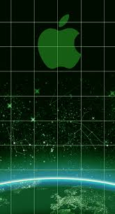 cool apple logos in space. aapplecoolgreenlogoshelfspace. iphone 6 plus wallpaper cool apple logos in space