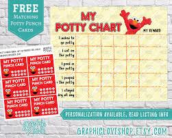 Digital Elmo Sesame Street Potty Training Chart Free Punch