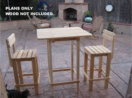 bar table and stool set outdoor