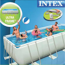 28352 intex rectangular ultra frame pool set 549 m x 274 132 intex above ground pool rectangle s40 ground