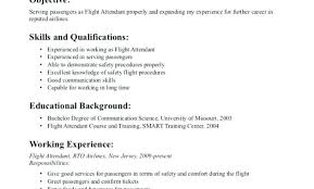 Flight Attendant Resume Sample No Experience