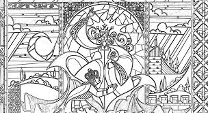 Beauty And The Beast Coloring Pages 3533 Icce Unescoorg