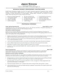 Industrial Design Engineer Sample Resume