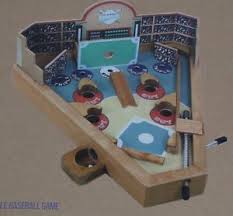 Wooden Baseball Game Toy Baseball Pinball Game Wooden Tabletop Spring Loaded Travel Desk 11