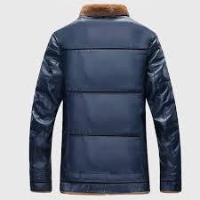 plus size 10xl fur lined leather jacket and coats brand designer mens fur leather er jackets