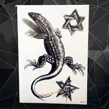 Cool 3d Scorpion King Fire Totem Temporary Tattoo Sticker Waterproof Arm Tatoo Sleeve Body Leg Art Fake Tattoo Stickers Ahb 306