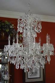 full chandelier before