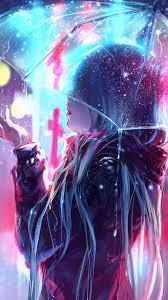 322906 Anime, Girl, Night, Raining ...