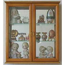 wall mounted curio cabinet. Small Wall Mounted Curio Cabinet Display Case Stand Oak Finish Throughout