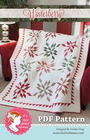Winterberry Downloadable PDF Quilt Pattern Jocelyn Ueng for It's ... & Hover to zoom Adamdwight.com