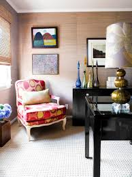 eclectic home office alison. Eclectic Home Office With Polka Dot Chair Alison E
