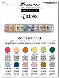 Final 12 Distress Oxide Colors Tim Holtz